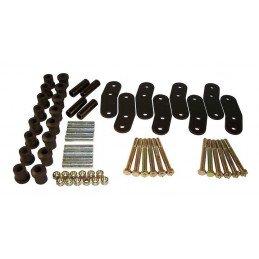 Kit Jumelles AV + AR + Silent-blocs renforcés + Graissables - Rehausse +20mm - Jeep Wrangler YJ 1987-1995 // RT21023