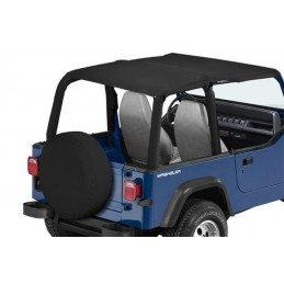 Bâche Bikini convertible 2 - 4 places - Black Denim  Jeep Wrangler YJ 1992-1995 // CB10015