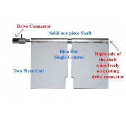 Kit réparation climatisation / chauffage volet de mélange - Jeep Grand-Cherokee WJ 1999-2004 V2 // BD-WJ-SINGLE-V2