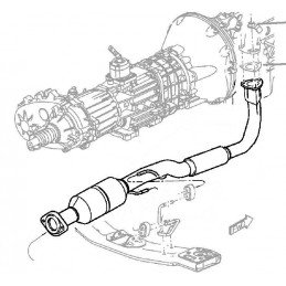 Pot catalytique - Jeep Cherokee KJ 2004-2007 2.8L CRD // 52080451AC
