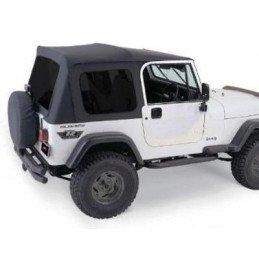 Bâche complète Avec Arceaux Noir Brillant et Vitres teintées - Jeep Wrangler YJ - CJ 1976-1995 portes acier // CT20035T