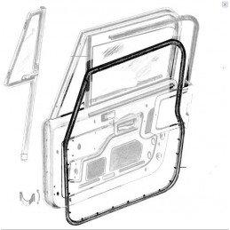Joint de porte (tôle avec vitre en verre) droit Jeep Wrangler YJ / CJ 1976-1995 // 55176222