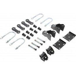 Kit Fixation Lames de suspension - Jumelles + Brides + Silent-blocs - Pont ARRIERE Dana 35C - Jeep Wrangler YJ 87-95 //52006421K