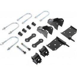 Kit Fixation Lames de suspension -  Jumelles + Brides + Silent-blocs - Pont AVANT - Jeep Wrangler YJ 1987-1995 // 52040407K