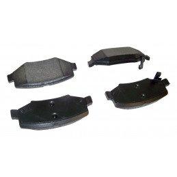 Jeu Plaquettes (x4) frein arrière semi-métalliques - Jeep Wrangler JK 2007-2016 / Cherokee KK 2008-2012 // 68003776AA