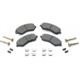 Kit jeu Plaquettes (x4) frein avant semi-métalliques+ ressorts + accessoires / Jeep Cherokee KJ 2002-2007 // 5066427MK
