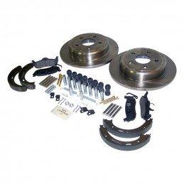 Kit freins arrière / disques + plaquettes + frein à main / Jeep Grand Cherokee WK + Commander XK 2005-2010 // 52089275K