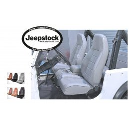 Siège avant style YJ - GRIS ANTHRACITE - Jeep Wrangler YJ 87-95 / TJ 97-02 / CJ 76-86  // 13402.09
