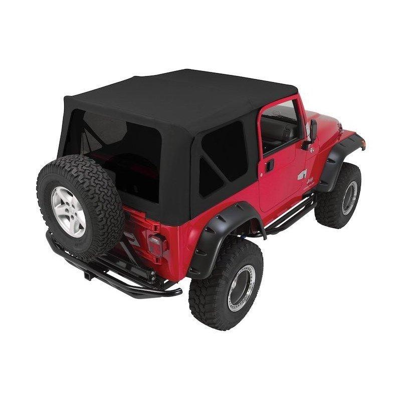 b che compl te noire arceaux vitres teint es jeep wrangler tj 1997 2006 portes en acier. Black Bedroom Furniture Sets. Home Design Ideas