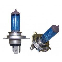Ampoules (X2) H4 Super Halogen Bleu 60 Watts - Jeep Wrangler YJ, TJ / Cherokee XJ, KJ / Grand-Cherokee ZJ // RT28004