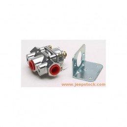 Kit régulateur de pression Holley 0.3 Bars + équerre pour carburateur - Jeep Wrangler YJ, CJ 3.8L, 4.2L 1972-1990 // HLY12804